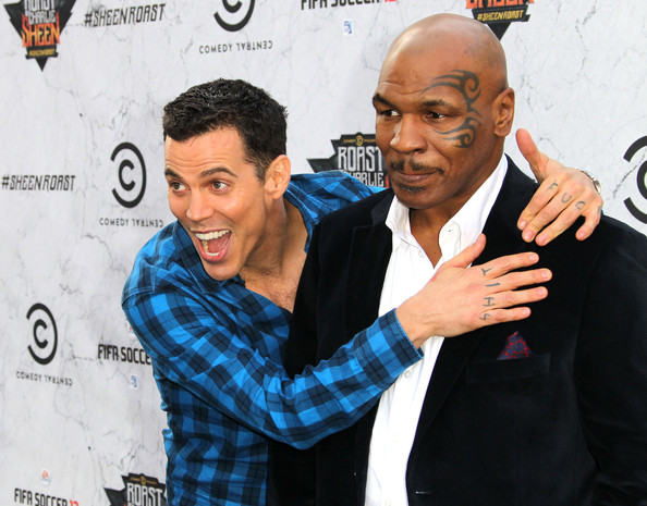 Photo of Steve-O & his friend athlete  Mike Tyson - Los Angeles